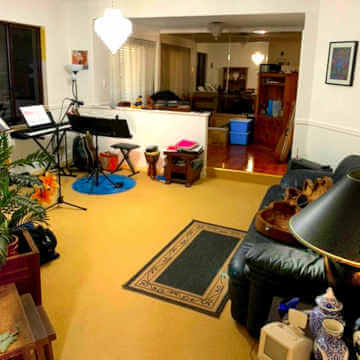 Living room of house for sale in Perth WA.